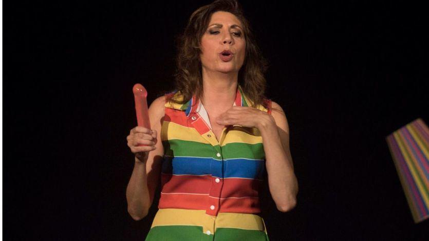 Pilar Ordóñez, en un momento de la representación de su exitoso espectáculo 'Tupper Sex'