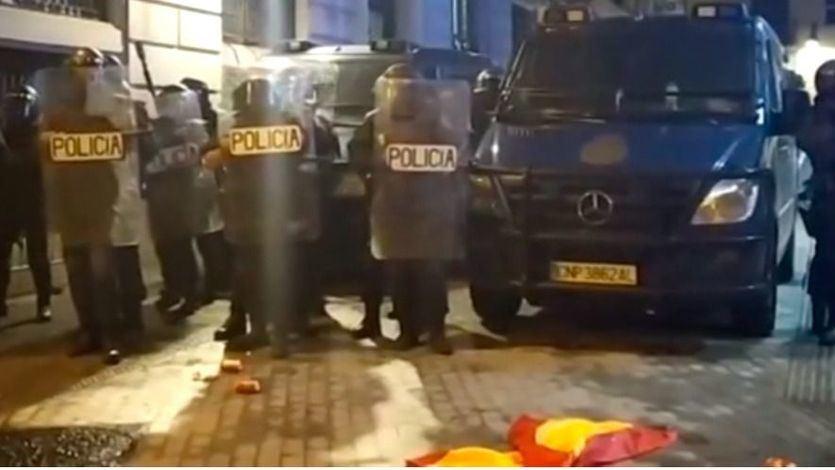 Antidisturbios en Barcelona el día que se conoció la sentencia del procés