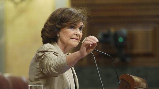 Oleada de críticas a Carmen Calvo por sus palabras sobre Primo de Rivera