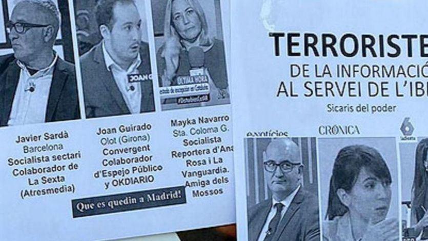 Seis periodistas catalanes, señalados como 'terroristas de la información'