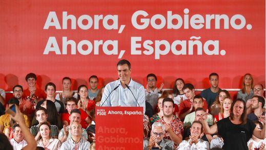 Sánchez apela a los indecisos y a los votantes de Cs y Podemos