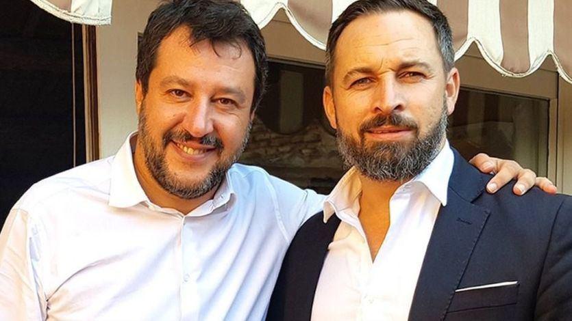 Matteo Salvini y Santiago Abascal