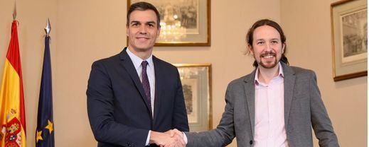 Sánchez e Iglesias acuerdan el primer gobierno de coalición en España