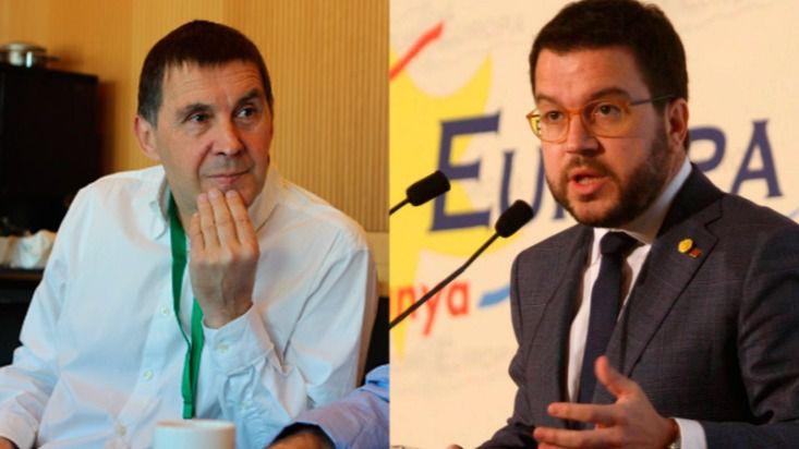 Arnaldo Otegi y Pere Aragonés