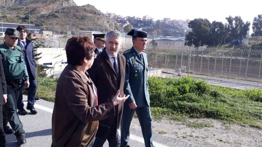Ministro del Interior, Fernando Grande-Marlaska, en Ceuta