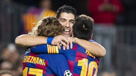 Fiesta del Tridente con estrellato de Messi en la clasificación del Barça para octavos de Champions