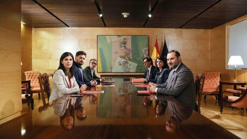 Equipos negociadores de PSOE y ERC