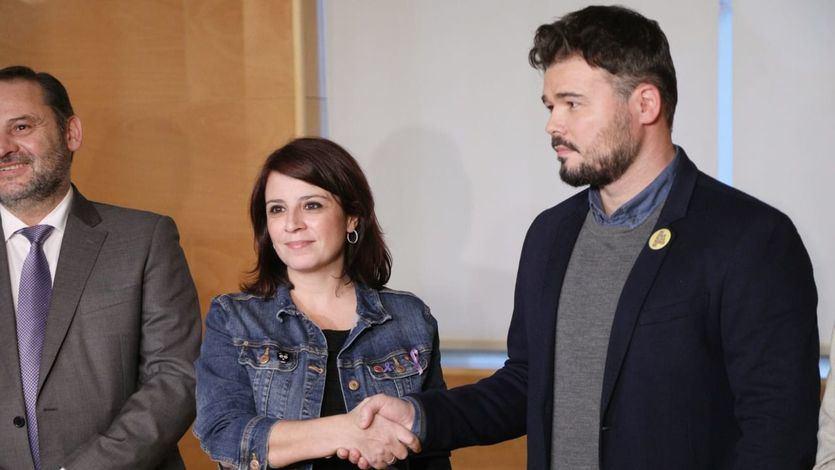 Adriana Lastra (PSOE) y Gabriel Rufián (ERC)