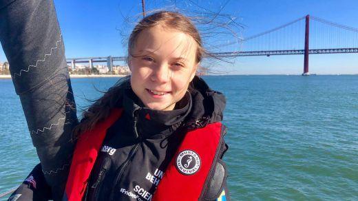 Greta Thunberg, la otra protagonista de la Cumbre del Clima, pisa suelo portugués, pero no llegará a Madrid hasta el viernes