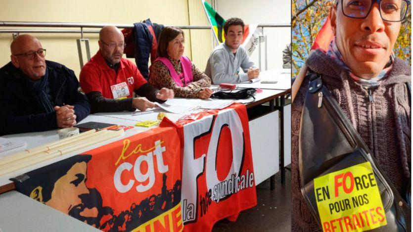 UD FO Essonne, uno de los convocantes de la huelga en Francia contra la reforma de las pensiones