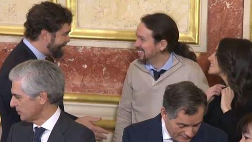 Pablo Iglesias justifica su 'colegueo' con Iván Espinosa de Vox en los actos de la Constitución