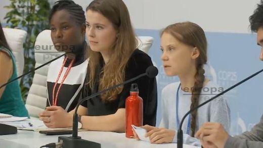 Greta Thunberg cede su voz a los jóvenes activistas del mundo en la COP25