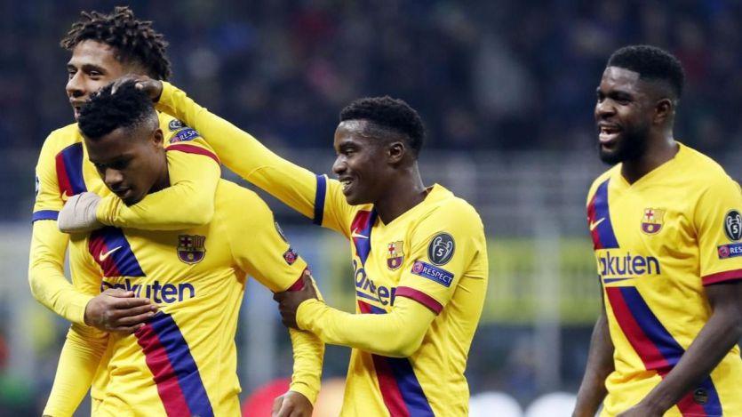El baby Barça gana en Milán y Ansu Fati hace historia con su gol (1-2)