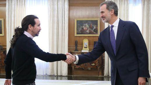 Iglesias, al Rey: 'Lo importante es que haya investidura aunque sea en enero'