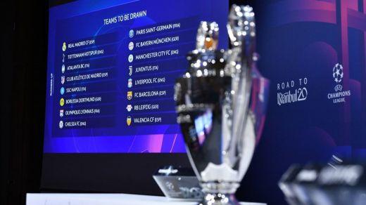 Sorteo de Champions: Real Madrid-Manchester City, Barça-Nápoles, Atlético-Liverpool y Valencia-Atalanta