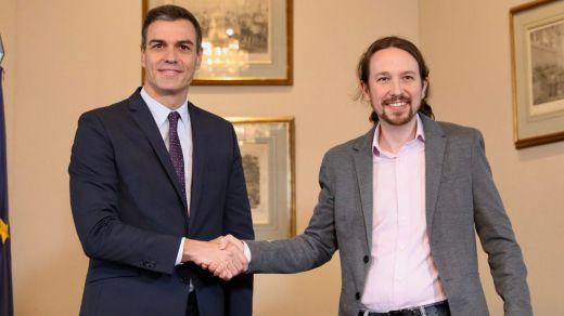 Sánchez e Iglesias presentan esta tarde el acuerdo de gobierno de coalición pero todavía no su composición