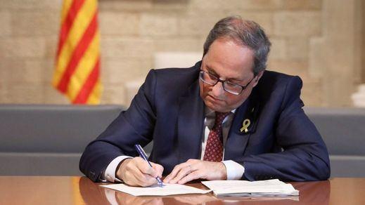 Torra, contra todos: desprecia el pacto de ERC con el PSOE y no acatará la inhabilitación de la Junta Electoral