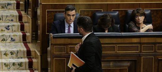 Rufián se da el gusto de protagonizar el debate de investidura: