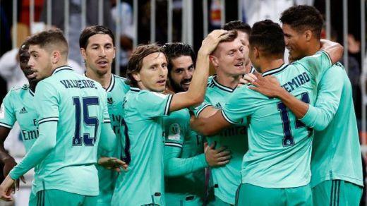 El Madrid, primer finalista de la nueva Supercopa tras bailar al Valencia (1-3)