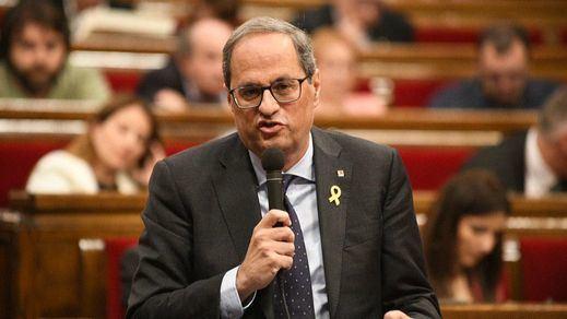 El Parlament blinda a Torra con el voto a favor del PSC y el visto bueno de los letrados de la cámara que no reconocen su inhabilitación