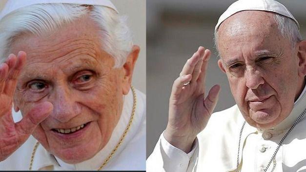 Papa Benedicto XVI y Papa Francisco