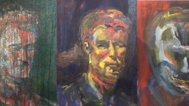 Obra 'El hombre y el lienzo'