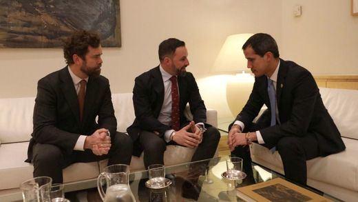 Los controvertidos halagos de Juan Guaidó a Vox por su recibimiento en Madrid
