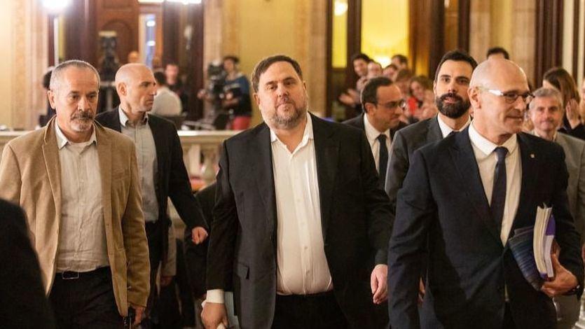 Junqueras sale de prisión para participar en el Parlament y llama a seguir buscando la 'autodeterminación'