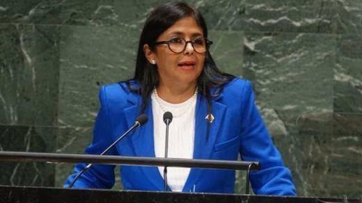 Delcy Rodríguez retuitea un mensaje que llama a Vox