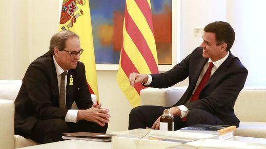 Habrá foto Sánchez-Torra, pero la mesa de negociación sobre Cataluña se pospone a después de las elecciones