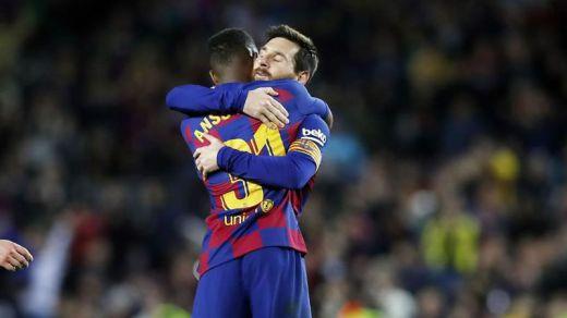 Messi y Ansu Fati ponen calma en la etapa Setién del Barça (2-1)