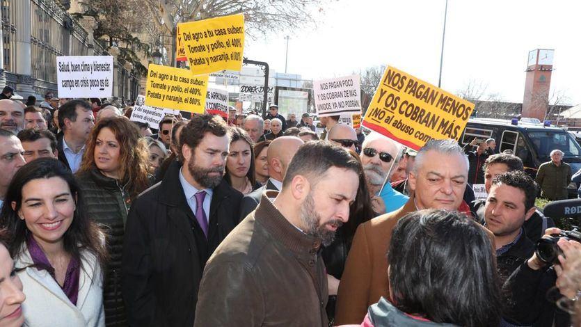 Parte de los agricultores que se manifestaron en Madrid expulsan a Vox de su protesta