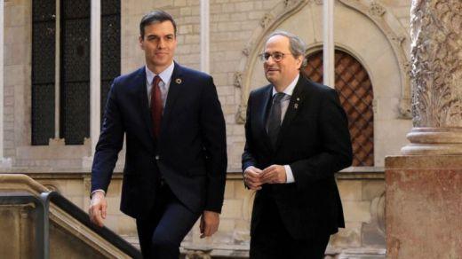 Torra admite que Sánchez sólo le ofrece la vía constitucionalista y que no dio respuesta a la