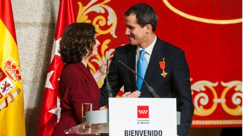 Isabel Díaz Ayuso y Juan Guaidó
