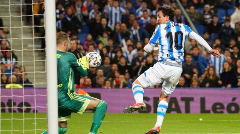 La Real Sociedad no remata la semifinal pero la deja fácil para la vuelta (2-1 al Mirandés)