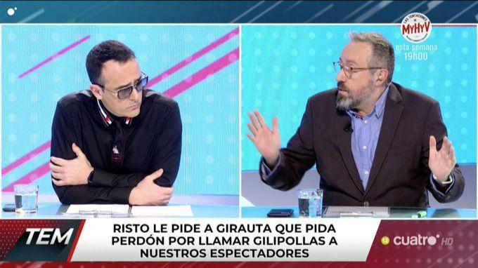 Risto Mejide expulsa a Girauta del plató de 'Todo es mentira'