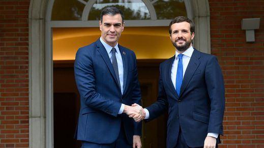 Fracasa la reunión entre Sánchez y Casado, cuyas posiciones siguen alejadas