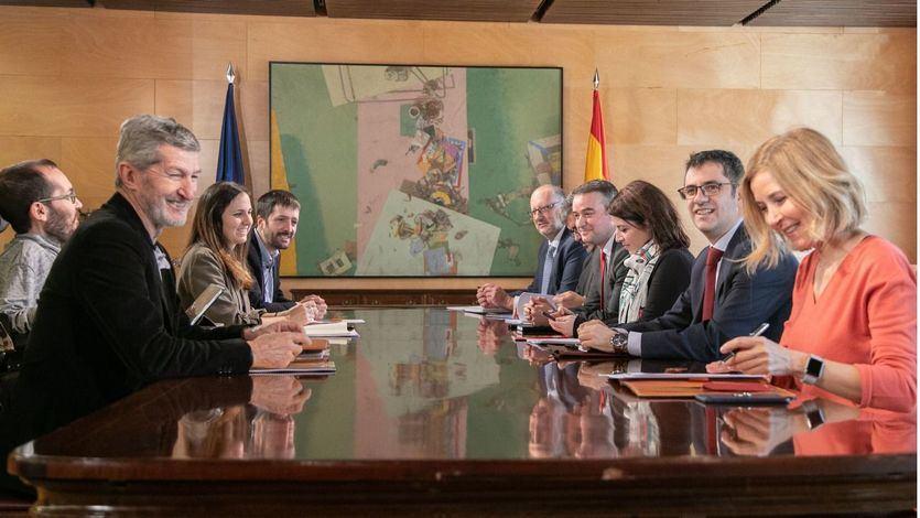 Reunión PSOE-Podemos