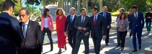 Acaba la primera reunión de la mesa de diálogo sobre Cataluña en La Moncloa