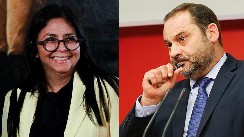 Ministro español niega que se habilitara sala VIP para Delcy Rodríguez