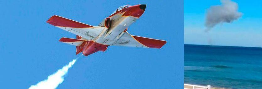 Modelo del avión del Ejército del Aire siniestrado en Murcia