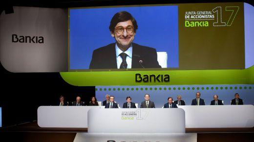Goirigolzarri en la junta de accionistas de Bankia