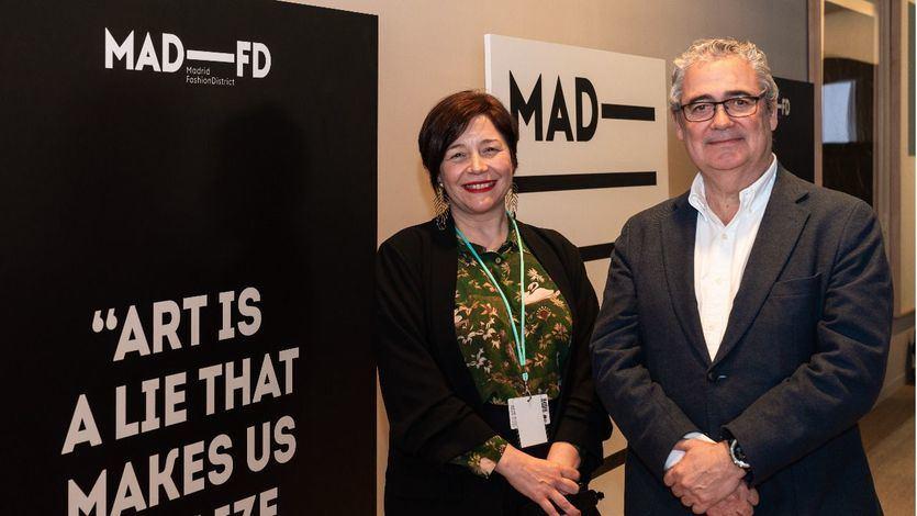 Maribel López, directora de ARCOmadrid y Jorge Valls, director de MAD FD El Corte Inglés(
