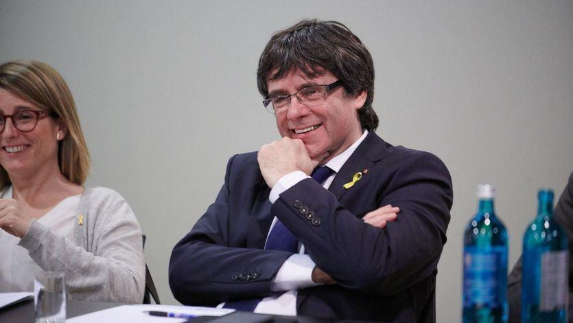 Puigdemont celebra su 'entrada en Cataluña'