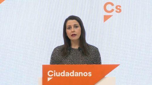 Ciudadanos ofrece al Gobierno su apoyo para aprobar unos 'Presupuestos de Emergencia'