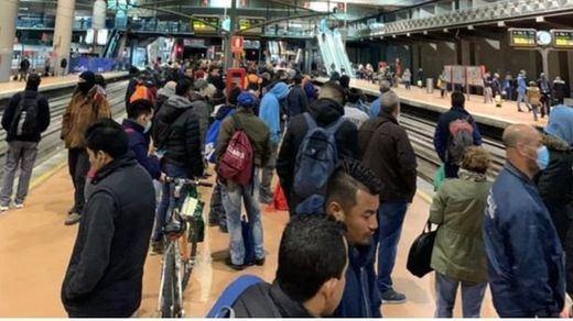 Indignación en Madrid-Atocha por el atasco en Cercanías: