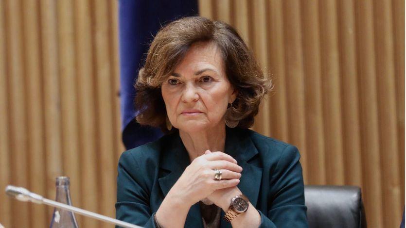 Carmen Calvo, negativo no concluyente en la prueba del coronavirus
