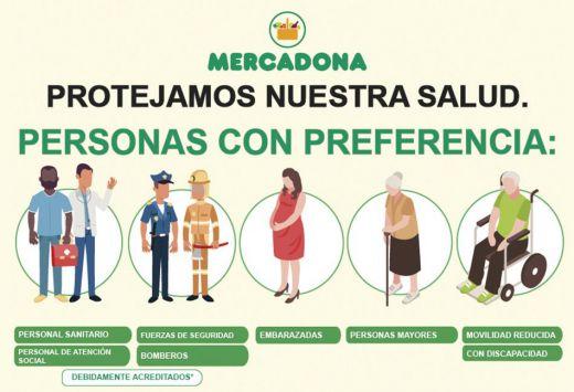 Mercadona amplía sus medidas de seguridad de clientes y trabajadores: 26 de marzo 2020