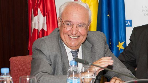 Luis Ramón Núñez Rivas. Director ETSI Navales durante la firma del Catedra UPM-PYMAR