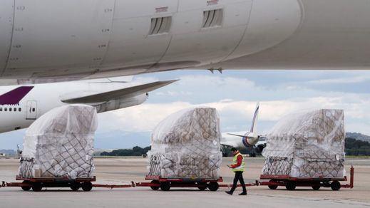 Madrid recibe su segundo avión con 82 toneladas de material sanitario